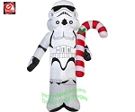 3 1/2' Star Wars Stormtrooper Holding Candy Cane