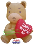 5' Valentine's Day Bear Holding Heart