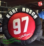4' Kurt Busch NASCAR Racing Tire #97