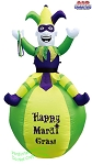 7' Inflatable Mardi Gras Jester On Ball