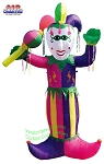 8' Inflatable Mardi Gras Jester