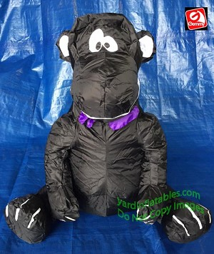 2' Black Ape w/ Purple Bow Tie Table Topper