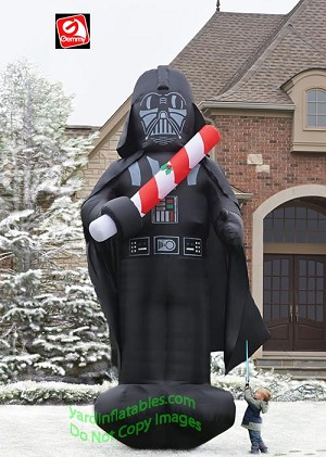 16' Star Wars Colossal Darth Vader Holding Light Saber