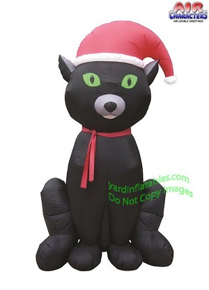 6 inflatable christmas black cat - Inflatable Christmas