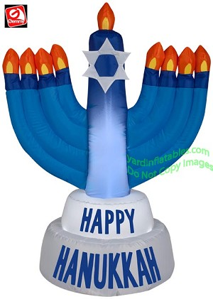 "3 1/2' ""Happy Hanukkah"" Menorah"
