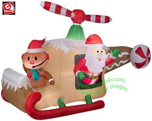 Animated Gingerbread Helicopter