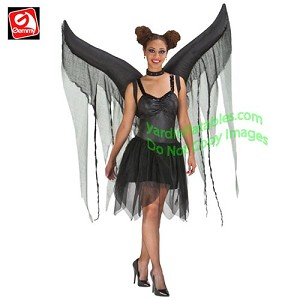 Inflatable Dark Angel Wings Costume