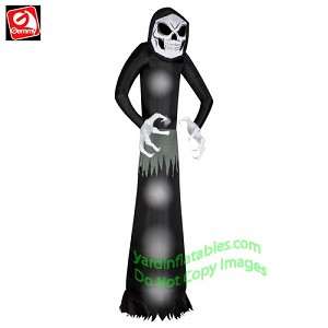 12' Grim Reaper w/ Skeleton Face