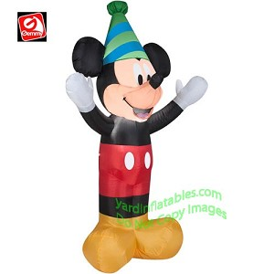 4' Disney Mickey Mouse Wearing Party Hat