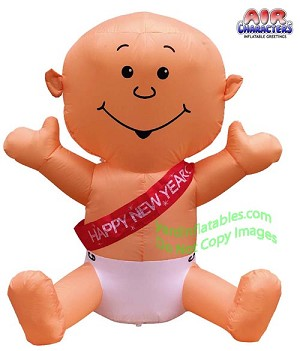 "4' ""Happy New Years"" ""It's A Boy!"" ""It's A Girl"" Inflatable Baby"