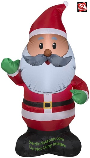 4' Inflatable African American Santa