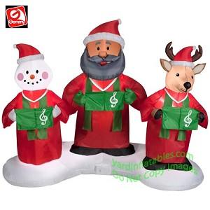 6 african american santa snowman and reindeer gospel trio - Santa Snowman
