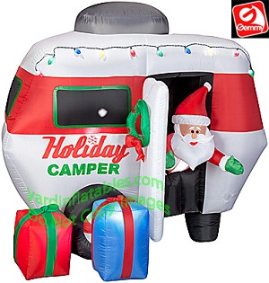 Animated RV Santa Holiday Camper