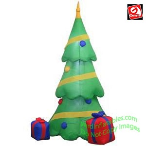 6 1/2' Christmas Tree w/ Gift Box