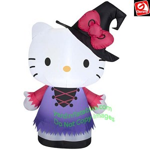 3' Hello Kitty Wearing Witch Hat