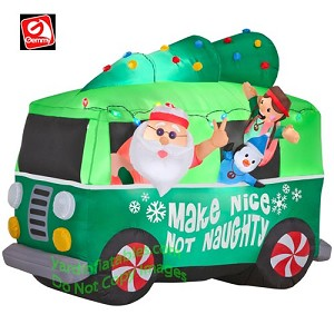 Santa In Hippie Mobile