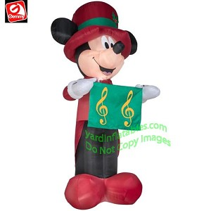 14 1/2' Colossal Caroling Mickey Mouse
