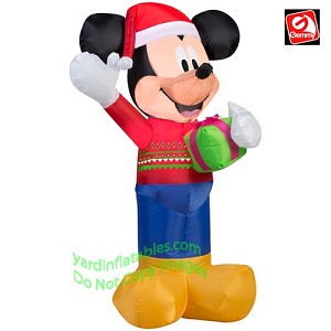 3 12 mickey mouse in a christmas sweater holding a present - Mickey Mouse Christmas Sweater