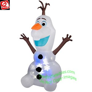 8' Airblown Projection Snow Flurry Olaf