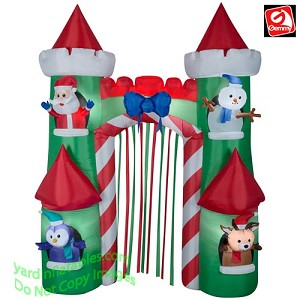 9' Airblown Inflatable Santa's Castle Archway