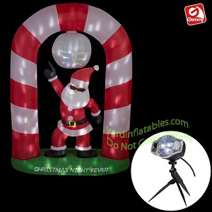8' Animated DISCO Dancing Santa Claus Scene