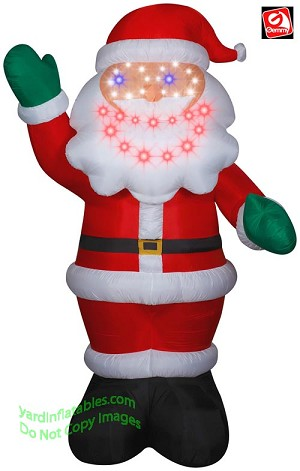 11' Gemmy Airblown Inflatable LIGHTSYNC Giant Santa Claus