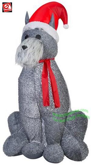6' Mixed Media Furry Schnauzer Dog