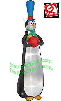 Skinny Slender Tall Penguin Ornament