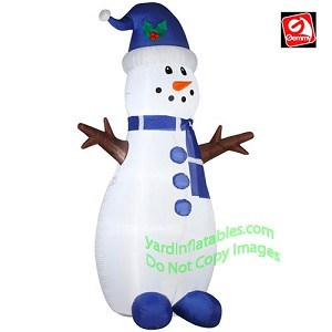 7' Tall Skinny Snowman Stick Arms