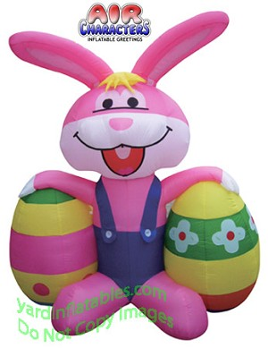 6' Inflatable Easter Bunny with 2 Eggs