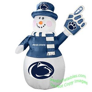 7' Air Blown Inflatable NCAA Penn State Nittany Lions Snowman