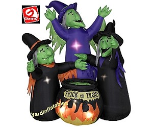 Animated 3 Witches Cauldron