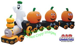 Inflatable Halloween Pumpkin Train