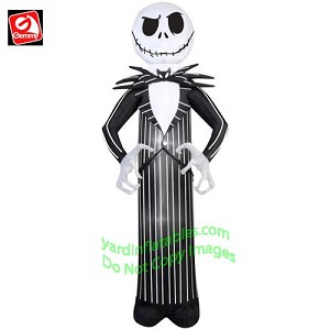 7 jack skellington from nightmare before christmas - Nightmare Before Christmas Inflatable Lawn Decorations