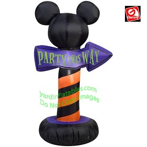 "3 1/2' Mickey Mouse Ears ""Party This Way"" Sign"