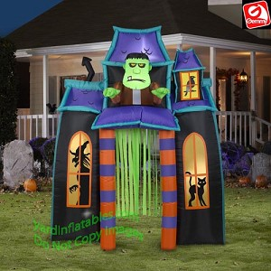 9' Animated Frankenstein Monster Haunted House Archway