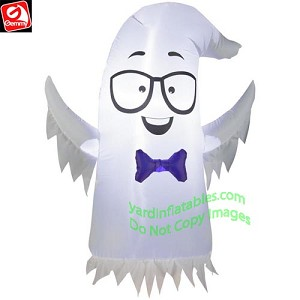 3 1/2' Nerdy Ghost w/ Glasses