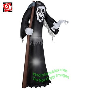 7' Grim Reaper Holding Sickle