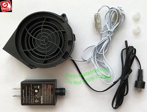 Gemmy Replacement 1.0a FAN...  With 12v/1.0a Adapter