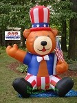 Inflatable Patriotic Bear
