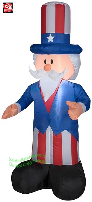 Gemmy Airblown Inflatable 4' Uncle Sam