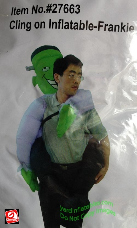 Inflatable Cling On Frankie Costume