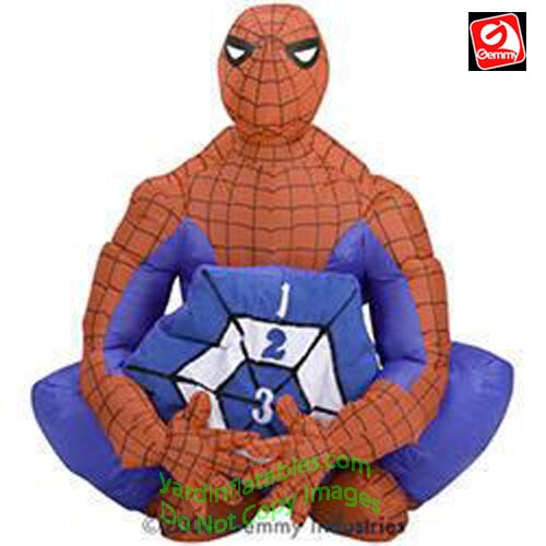 3' Gemmy Airblown Inflatable Spiderman Beanbag Toss Game