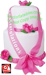 4' Gemmy Airblown Inflatable Wedding Cake