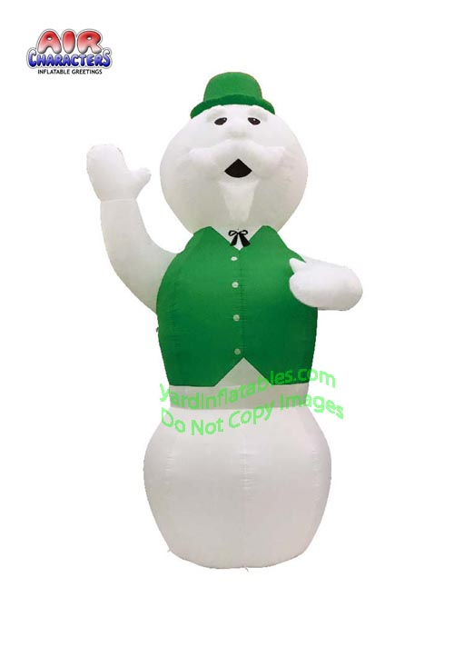 20' Air Blown Inflatable Snowman with Green Vest