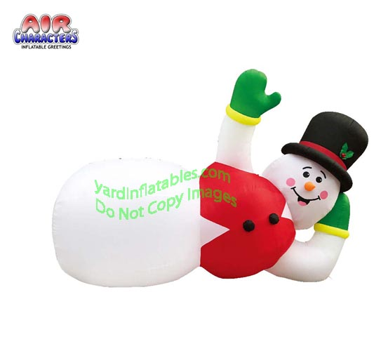 20' Air Blown Inflatable Lazy Lounging Snowman