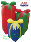 5' Inflatable 3 Christmas Presents