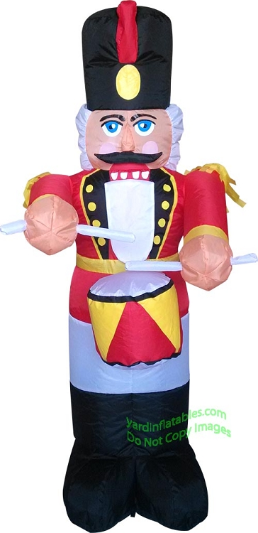 4' Air Blown Inflatable Nutcracker With Drum