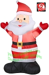 4' Gemmy Airblown Inflatable Santa With Both Hands Up