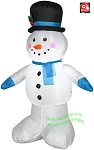 4' Snowman Standing Wearing Top Hat
